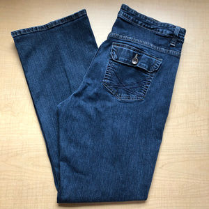 Lee Boot Cut Dark Wash Button Pocket Jeans